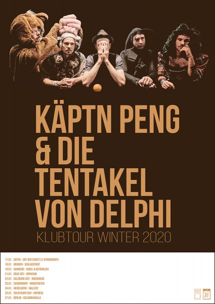 Käptn Peng & Die Tentakel von Delphi - Klubtour 2020 - Poster