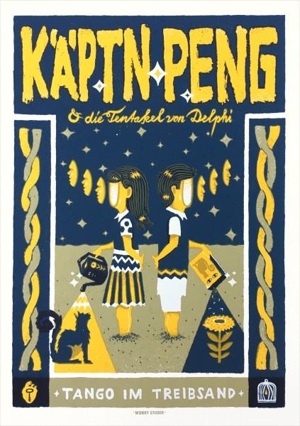 Kaeptn_peng_und_die_tentakel_von_delphi_tango_im_treibsand_siebdruck_poster
