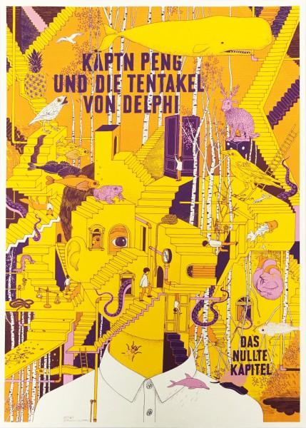 Käptn Peng & Die Tentakel von Delphi - Das nullte Kapitel - Siebdruck Poster